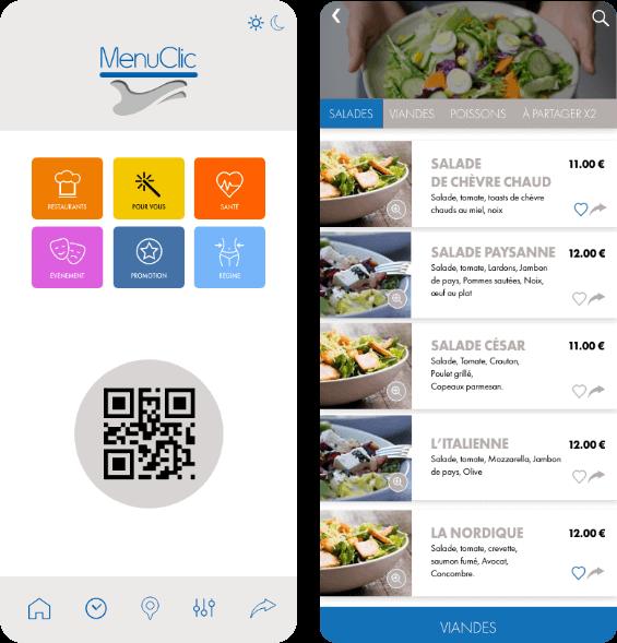 Menu clic app