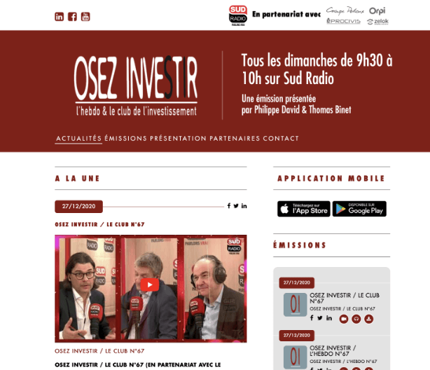 Osez Investir site